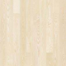 паркетная доска Barlinek PICCOLO Ясень MOONLIGHT 1-на полосная белый матовый лак